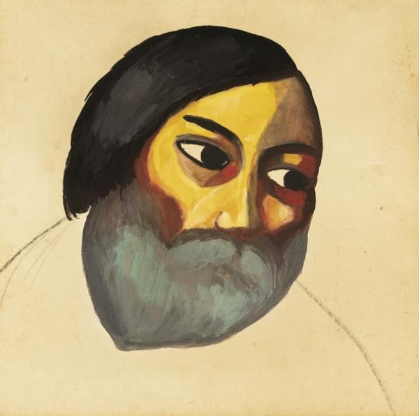 МАЛЕВИЧ Казимир  Северинович (1878–1935) Голова крестьянина. Около 1911