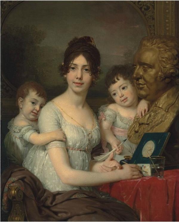 БОРОВИКОВСКИЙ Владимир  Лукич (1757–1825) Портрет графини Любови Ильиничны Кушелевой. 1803