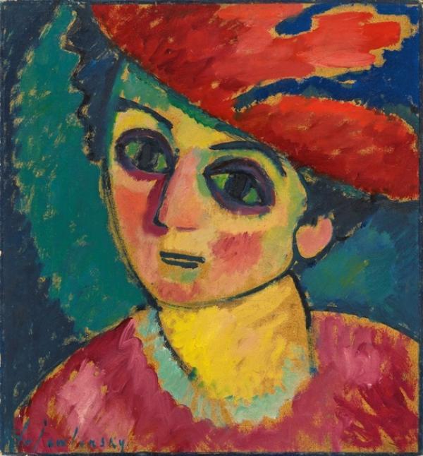 ЯВЛЕНСКИЙ Алексей  Георгиевич (1864–1941) Красная шляпка. 1912