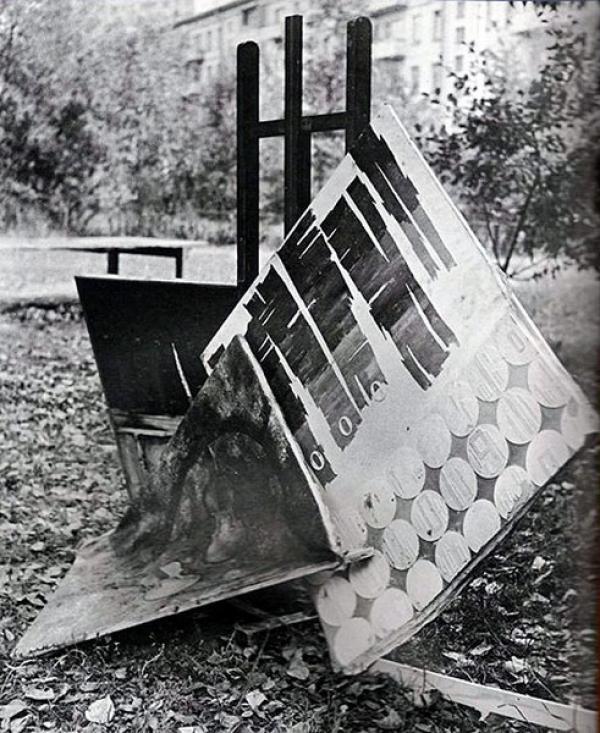 Абстракция Лидии  Мастерковой после «Бульдозерной выставки». 1974