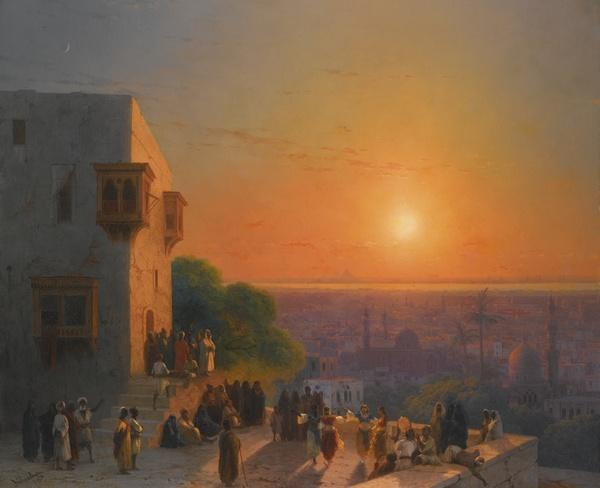 Иван АЙВАЗОВСКИЙ  Вечер в Каире. 1870