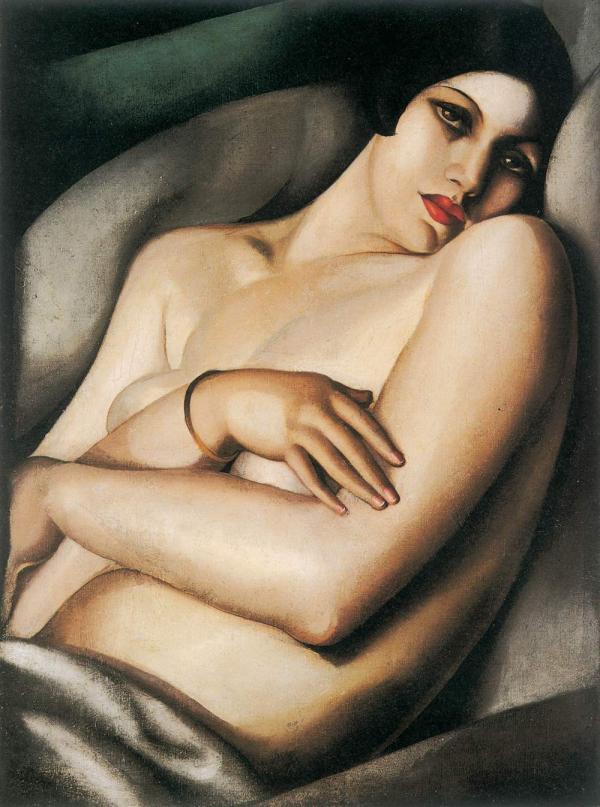 ТАМАРА ДЕ ЛЕМПИЦКА Мечта (Рафаэла на зеленом фоне). 1927