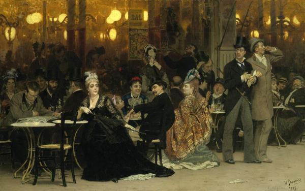 ИЛЬЯ РЕПИН Парижское кафе. 1875