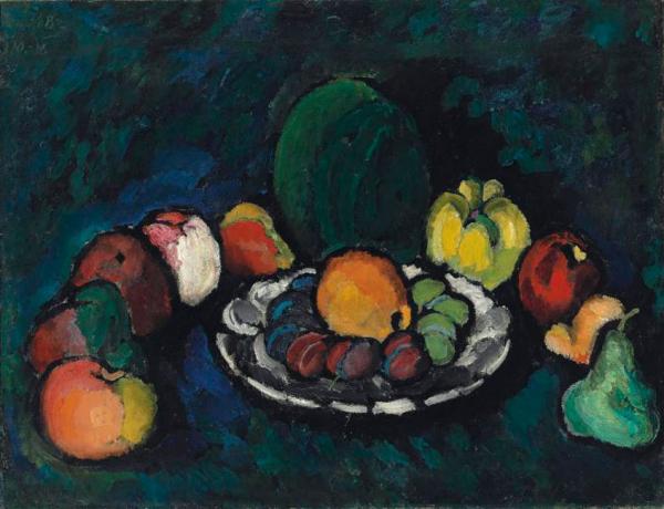 ИЛЬЯ МАШКОВ Натюрморт с фруктами. 1910