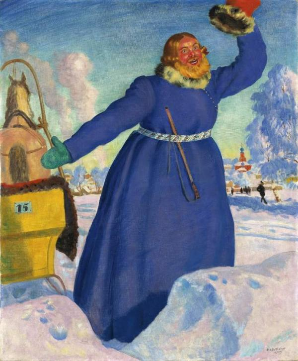 БОРИС КУСТОДИЕВ Извозчик. 1923