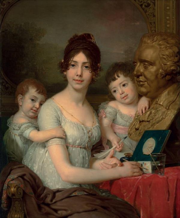 ВЛАДИМИР БОРОВИКОВСКИЙ Портрет графини Любови Ильиничны Кушелевой, урожденной Безбородко (1803)