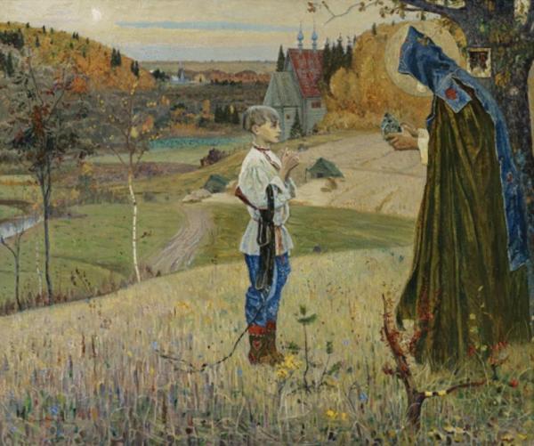 МИХАИЛ НЕСТЕРОВ Видение отроку Варфоломею. 1922