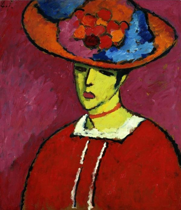 АЛЕКСЕЙ ЯВЛЕНСКИЙ Шокко в широкополой шляпе. Около 1910