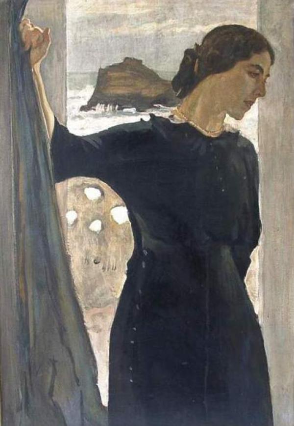 ВАЛЕНТИН СЕРОВ Портрет Марии Цетлиной. 1910