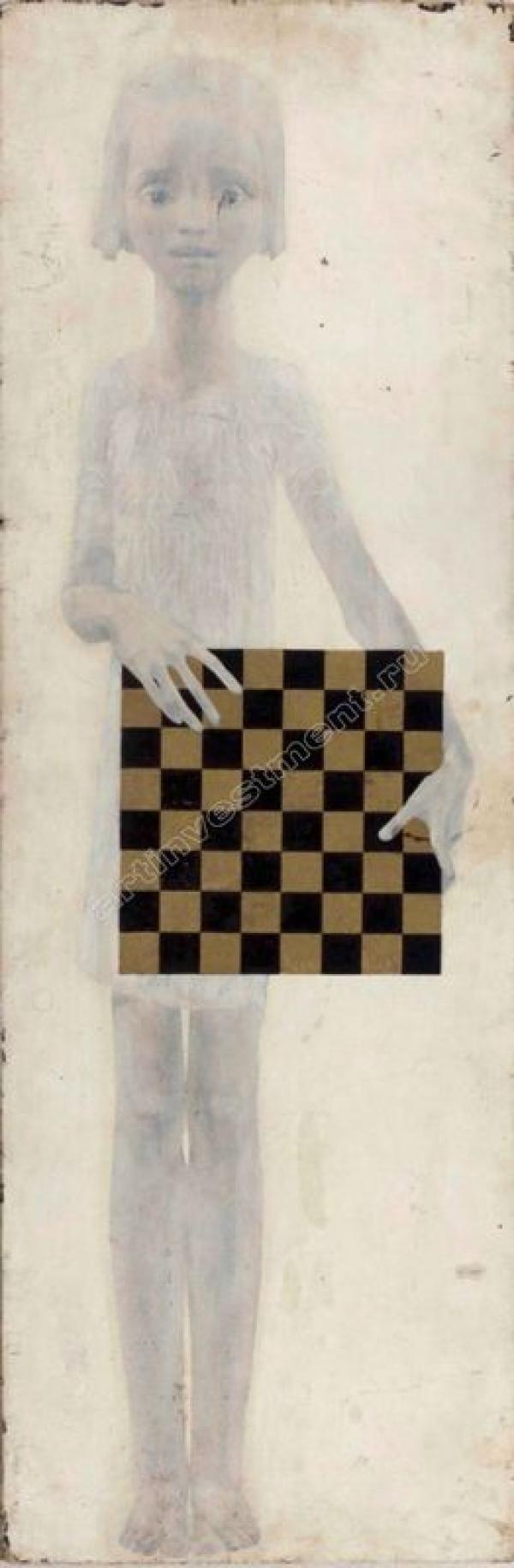 ВИТАЛИЙ КОМАР Девочка с шахматной доской. 1961