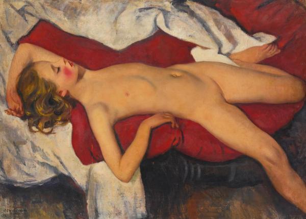 ЗИНАИДА СЕРЕБРЯКОВА Спящая девочка. 1923