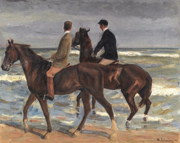 МАКС ЛИБЕРМАН Двое всадников на пляже