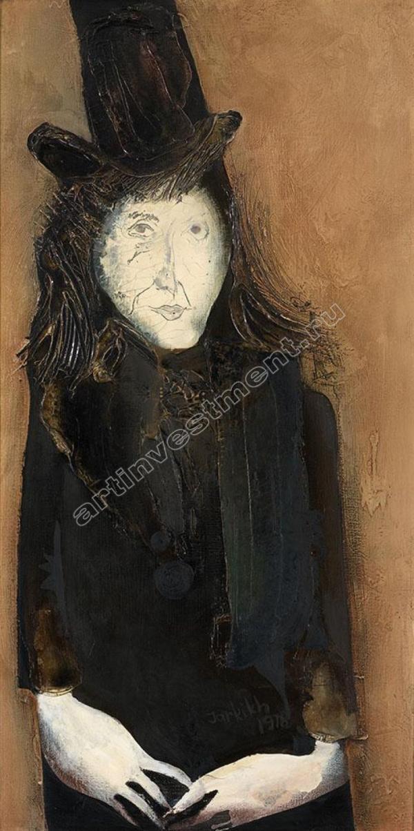 ЮРИЙ ЖАРКИХ Портрет Михаила Шемякина. 1978