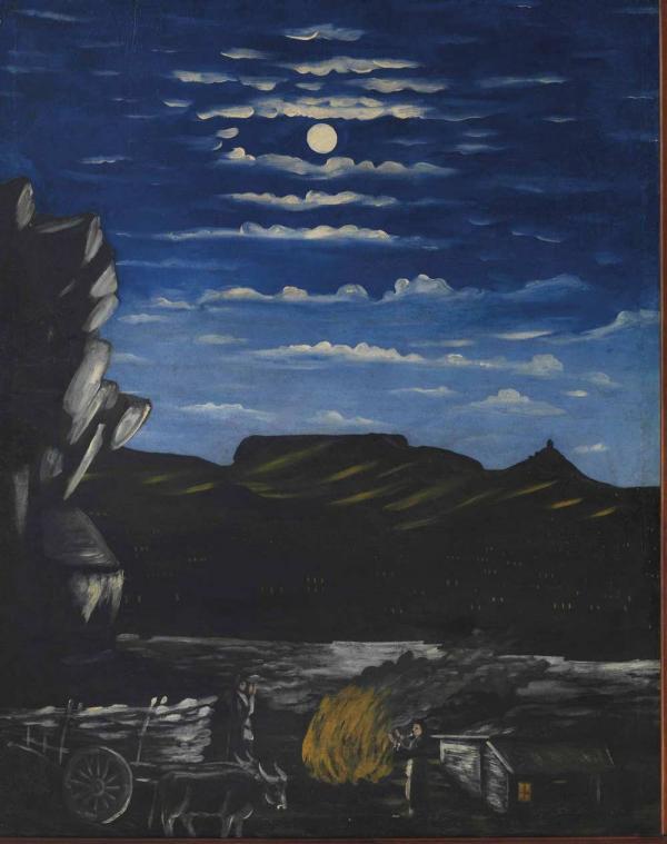 Нико ПИРОСМАНИ Арсенальная гора ночью. 1907–1908