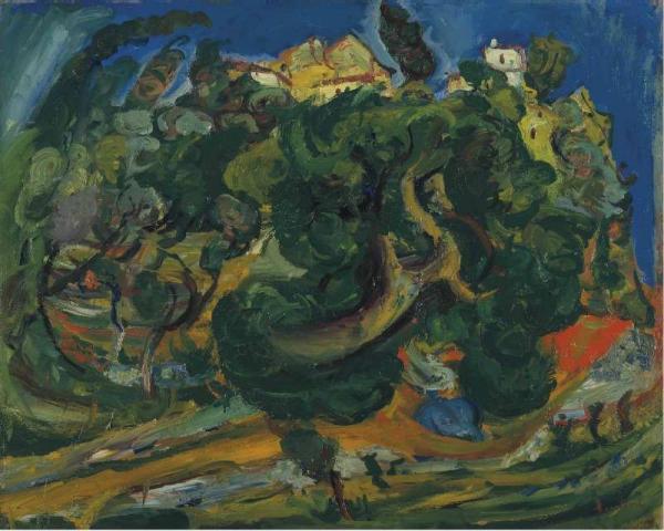 Хаим СУТИН Полуденный пейзаж. 1922–1923