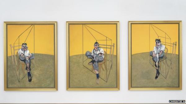 ФРЕНСИС БЭКОН Три эскиза с Лусиеном Фрейдом. 1969