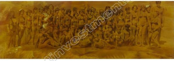 ФАЙБИСОВИЧ Семён Натанович (1949) На добрую память. Из цикла «На пляже». 1987