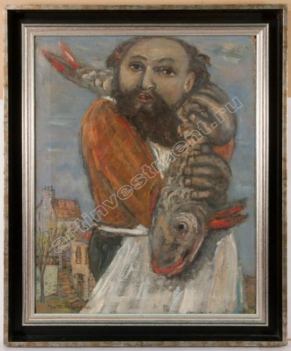 АЛЬТМАН Натан Исаевич (1889–1970) Мужчина с рыбой. 1960–70-е