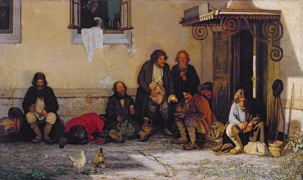 МЯСОЕДОВ Григорий  Григорьевич (1834–1911) Земство обедает. 1872