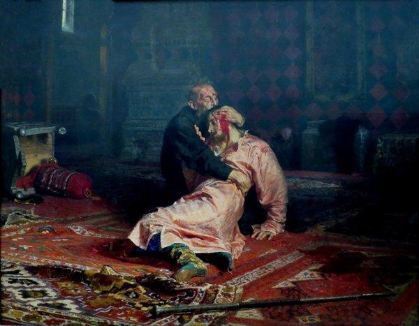 РЕПИН Илья Ефимович  (1844–1930) Иван Грозный и сын его Иван 16 ноября 1581 года. 1883–1885