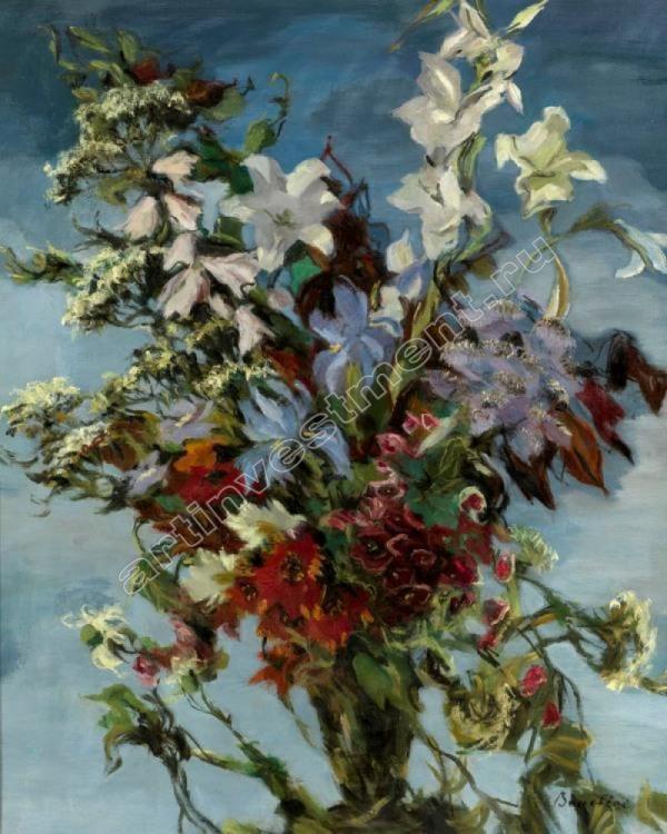 Дмитрий Бушен. Натюрморт на синем фоне