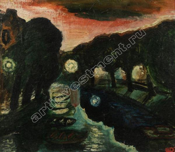 Дмитрий ШАГИН (1957) Река Пряжка. 1975