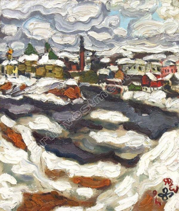 Владимир ЯШКЕ (1948) Ледоход у Старой Ладоги. 1994