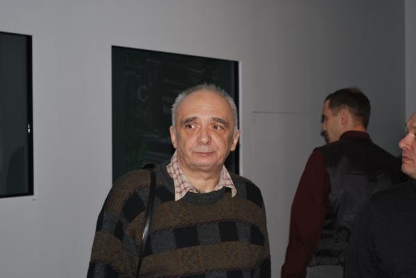 Андрей Монастырский на своей ретроспективе в ММСИ в 2010 году