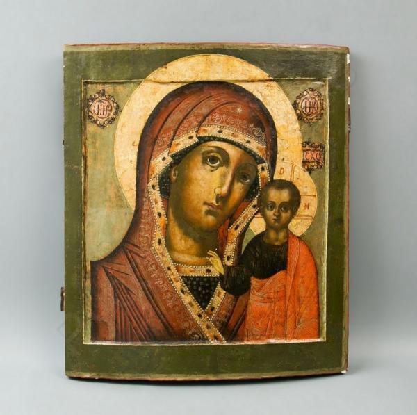 Икона «Богоматерь Казанская». Россия, конец XVII — начало XVIII века