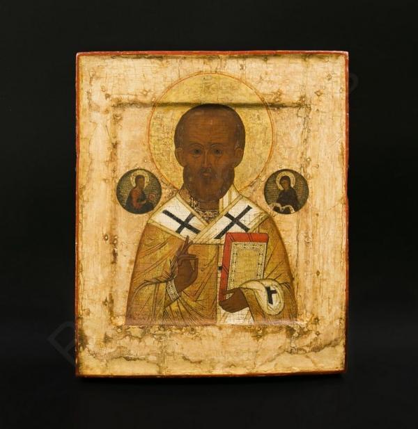 Икона «Святитель Николай». Россия, Москва, начало XVII века с поновлениями начала ХХ века