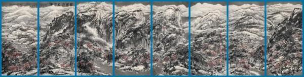 ЦУЙ ЖУЧЖО Великий снежный пейзаж горного Цзяннаня. 2013
