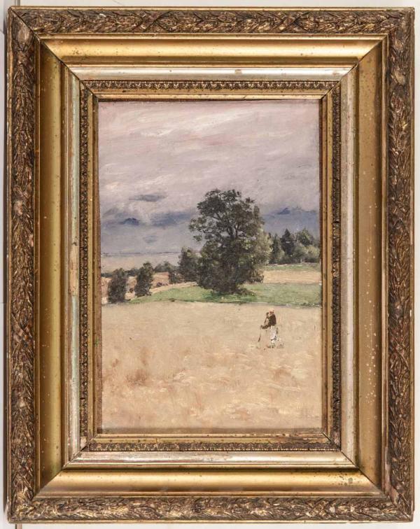 ДУБОВСКОЙ Николай Никанорович (1859–1918) На сжатом поле перед грозой. 1900