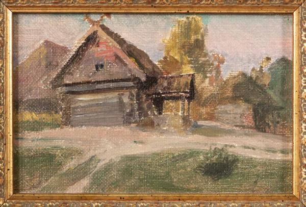 ПОЛЕНОВ Василий Дмитриевич (1844–1927) Деревня (избушка). Абрамцево. Конец XIX — начало ХХ века