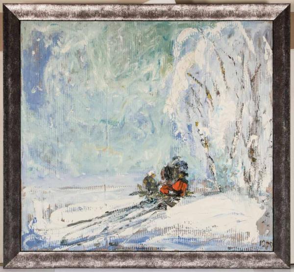 СЛЕПЫШЕВ Анатолий Степанович (1932) Зимой. 1990