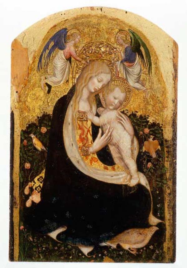 ПИЗАНЕЛЛО Мадонна с куропаткой (Madonna della quaglia). Около 1420