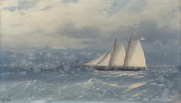 Приписывается Ивану АЙВАЗОВСКОМУ  (1817–1900) Корабль в море. 1875