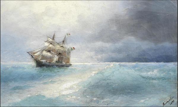 Иван АЙВАЗОВСКИЙ (1817–1900)  Итальянский корабль в море. 1899