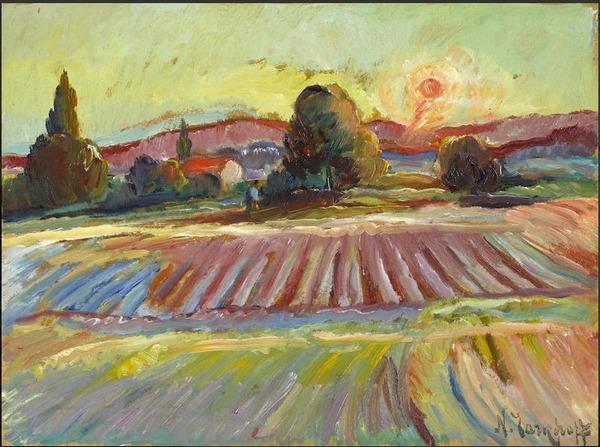 Николай ТАРХОВ (1871–1930)  Одинокая прогулка на закате