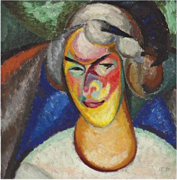 Александр БОГОМАЗОВ(1880–1930) Портрет Ванды Монастырской-Богомазовой (ок.  1890–1980)