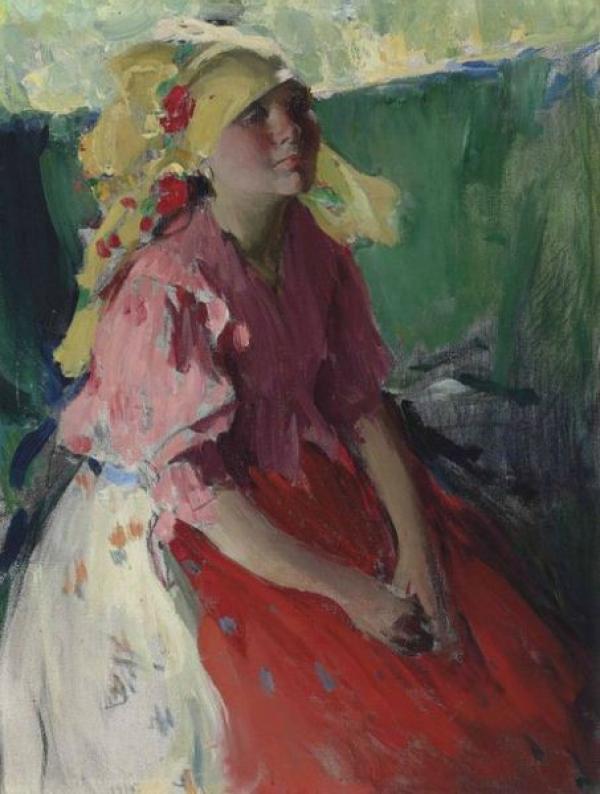 Абрам АРХИПОВ (1862–1930)  Молодая крестьянка. 1915