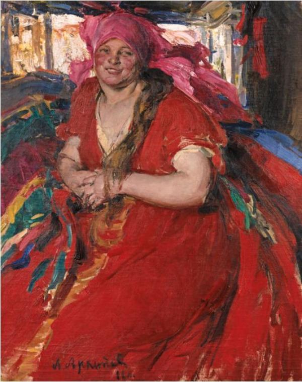 Абрам АРХИПОВ (1862–1930) Крестьянка в красном платье. 1922