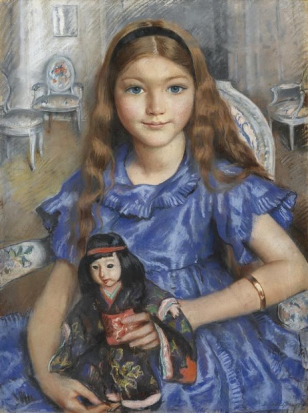 Зинаида СЕРЕБРЯКОВА (1884–1967) Девочка с куклой. 1925