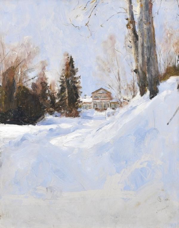 Валентин СЕРОВ (1865–1911) Зима в Абрамцево. 1886