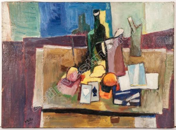ПАЙЛЕС Исаак Натюрморт с бутылкой. 1951
