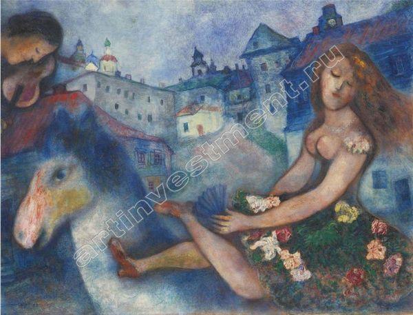 5. Марк ШАГАЛ  (1887–1985) Девушка на лошади. Около 1927–1929