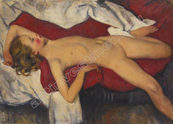 6. Зинаида СЕРЕБРЯКОВА  (1884–1967) Набросок спящей девочки. 1923