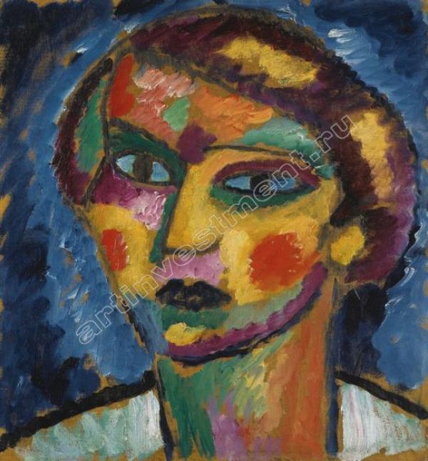 7. Алексей ЯВЛЕНСКИЙ  (1864–1941) Голова женщины. Около 1913