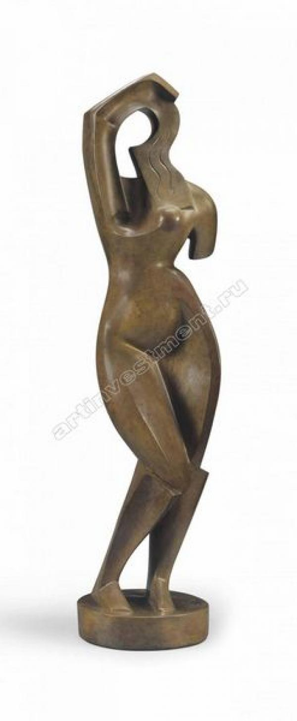 8. Александр АРХИПЕНКО  (1887–1964) Женщина, расчесывающая волосы. 1915