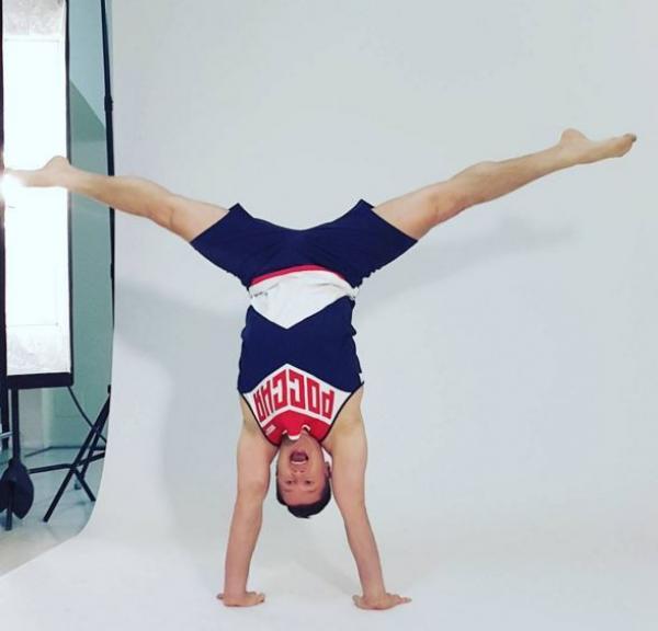 Олимпийский чемпион Алексей Немов в новой форме в стиле русского авангарда
