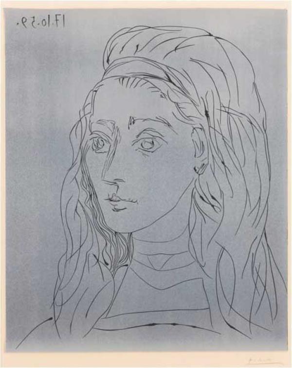 Пабло ПИКАССО Портрет  Жаклин (Рок). 1959